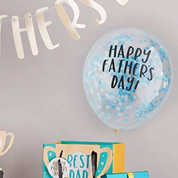 Happy Father's Day Confetti Balloons (x5)