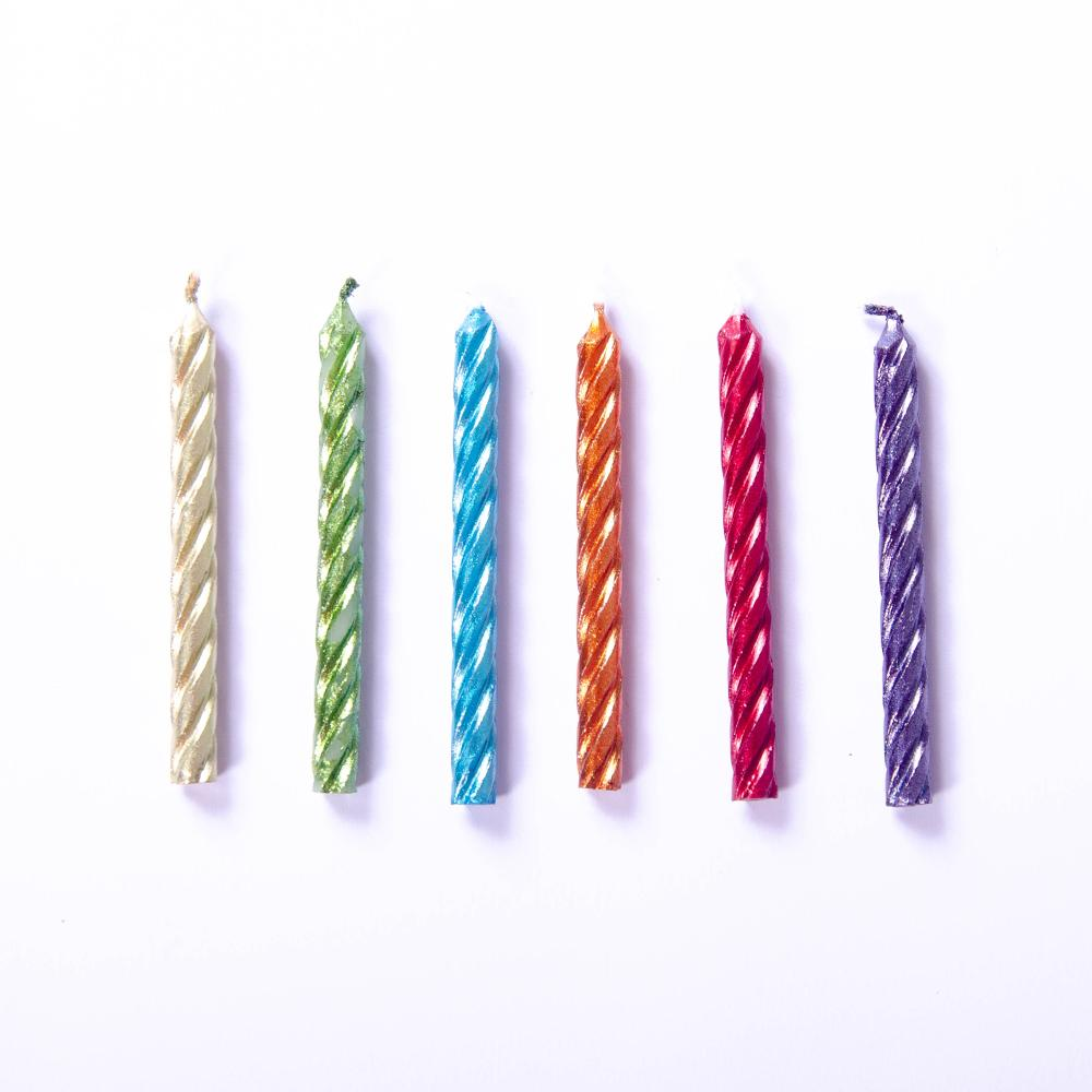 Metallic Candles Rainbow (x24)
