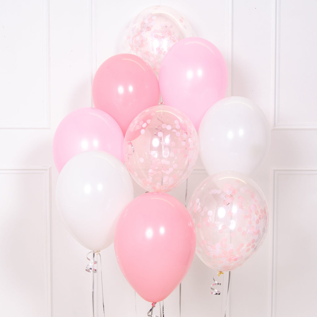 Confetti Balloon Bouquet - Pretty Pale Pink
