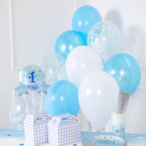 Confetti Balloon Bouquet - Light Blue