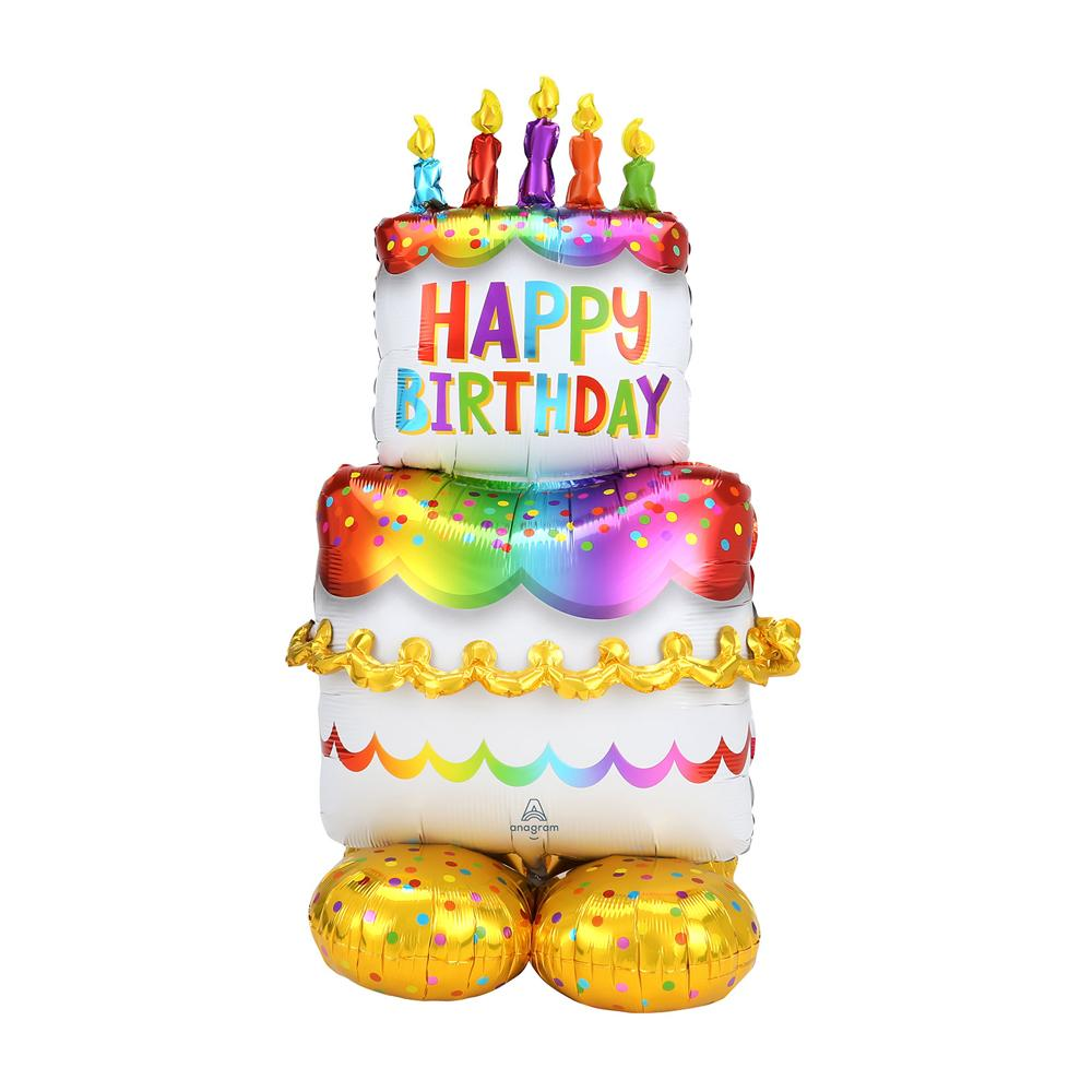 AirLoonz Standing Birthday Cake Balloon