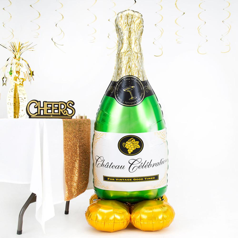 AirLoonz Standing Champagne Bottle Balloon