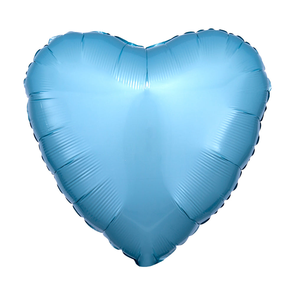 Heart Foil Balloon - Metallic Pastel Blue