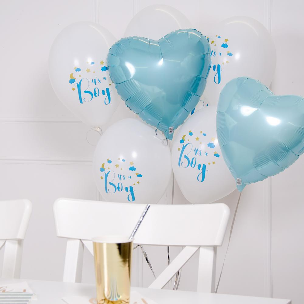 'It's a Boy' Helium Balloon Kit (Includes Helium, Weight & Ribbon!)