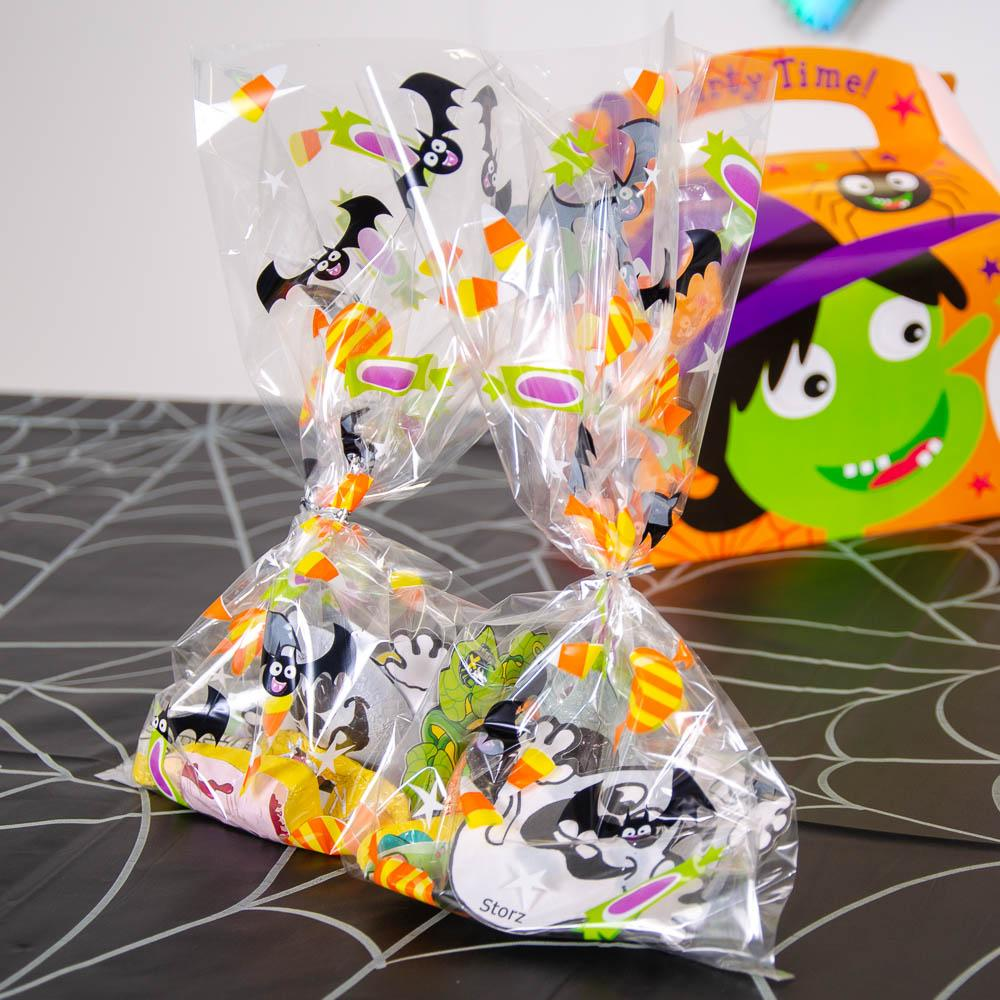 Cat & Pumpkin Cello Bags (x20)