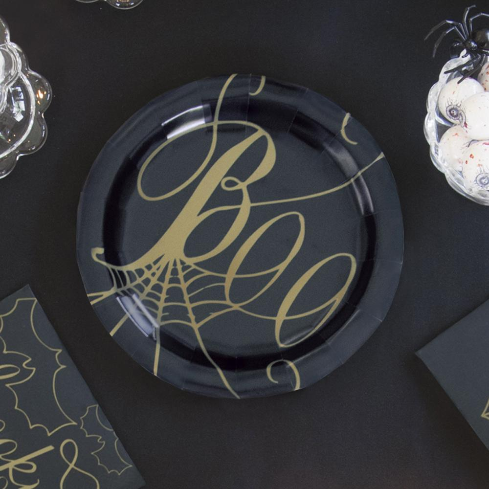 Frightfully Fabulous 'Boo' Paper Party Side Plates (x8)