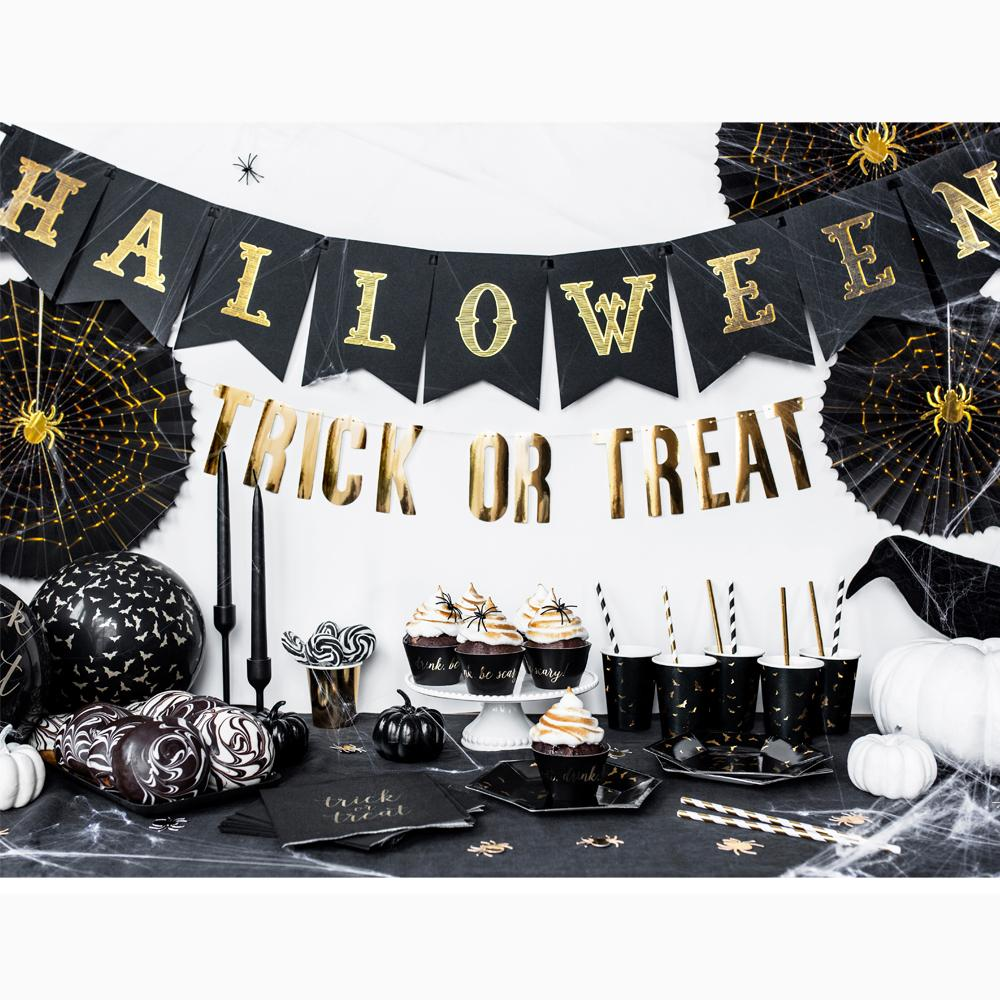 Black & Gold Halloween Banner