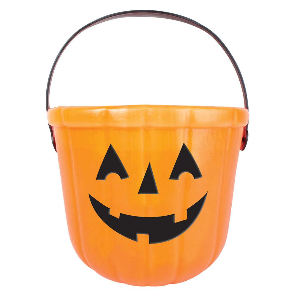 Pumpkin Trick or Treat Bucket Orange