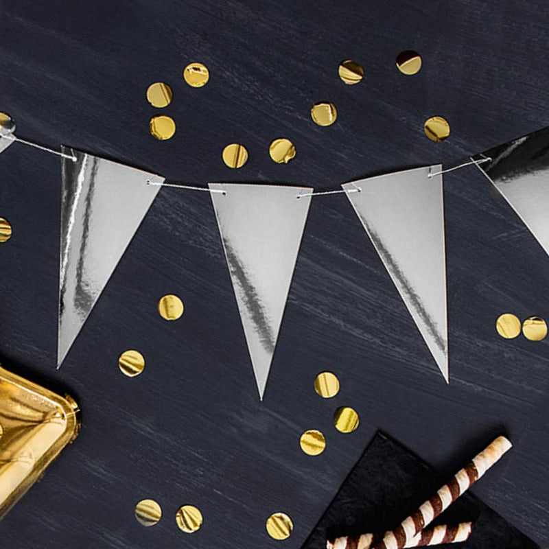 Mirrored Party Bunting Silver (3m)
