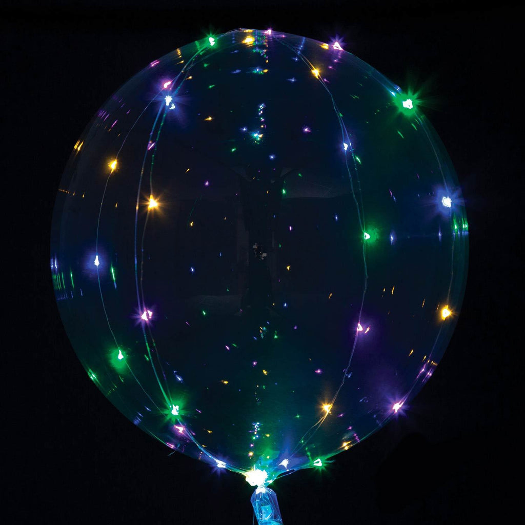 Jumbo Crystal Clear LED Balloon Multi
