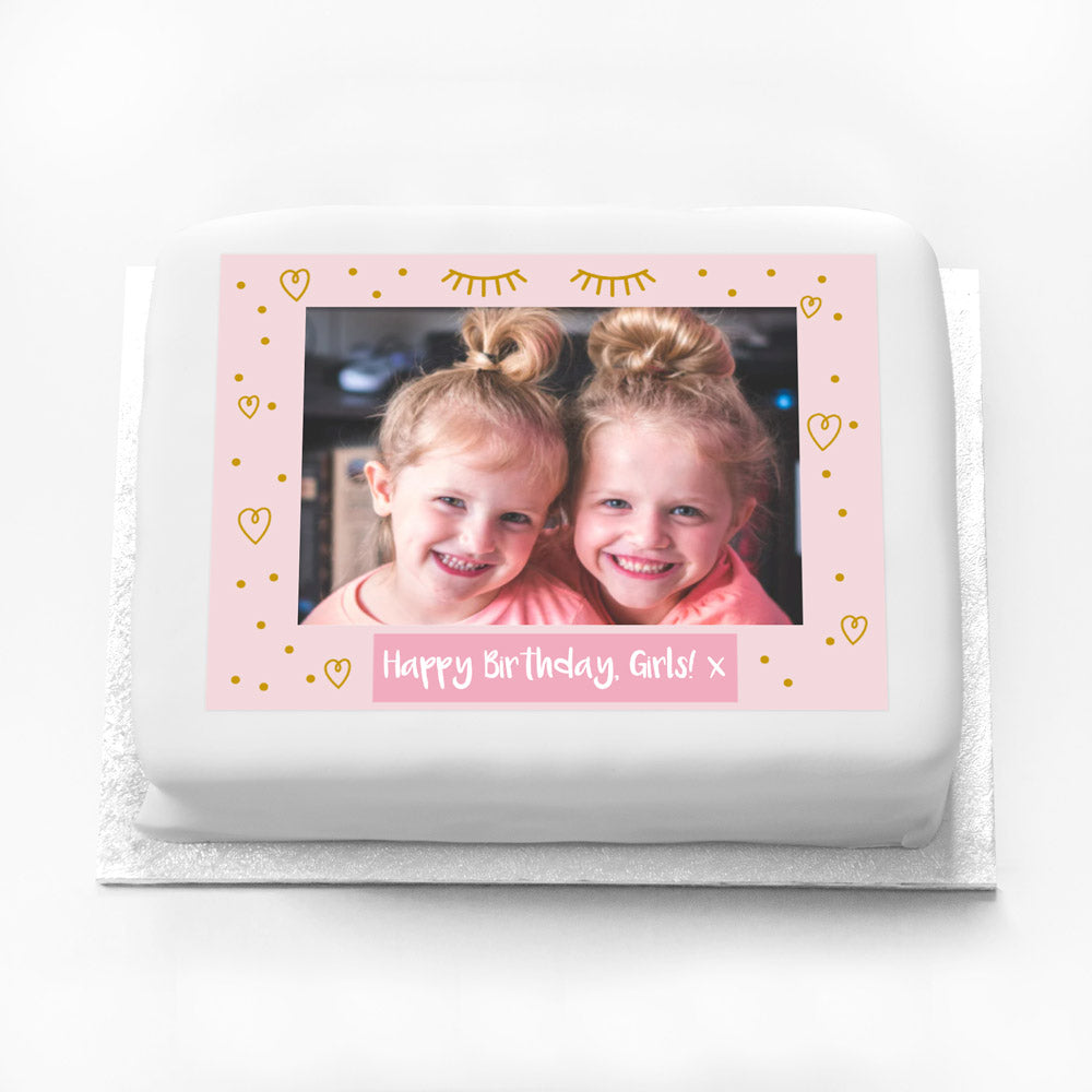 Personalised Photo Cake - Pamper Party