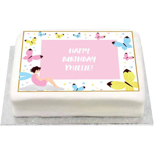 Personalised Photo Cake - Fairies