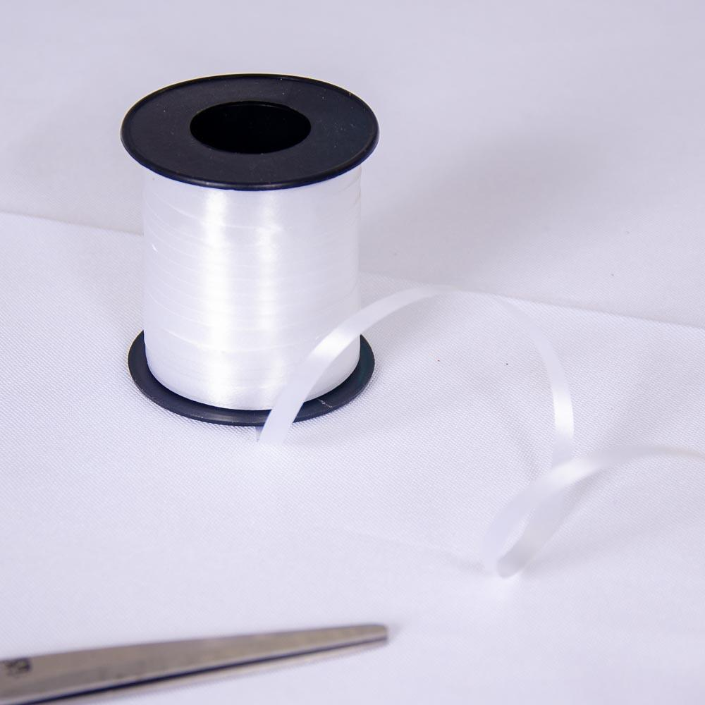 91m Curling Ribbon White