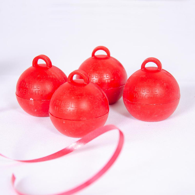 Bubble Balloon Weight Red (x4)