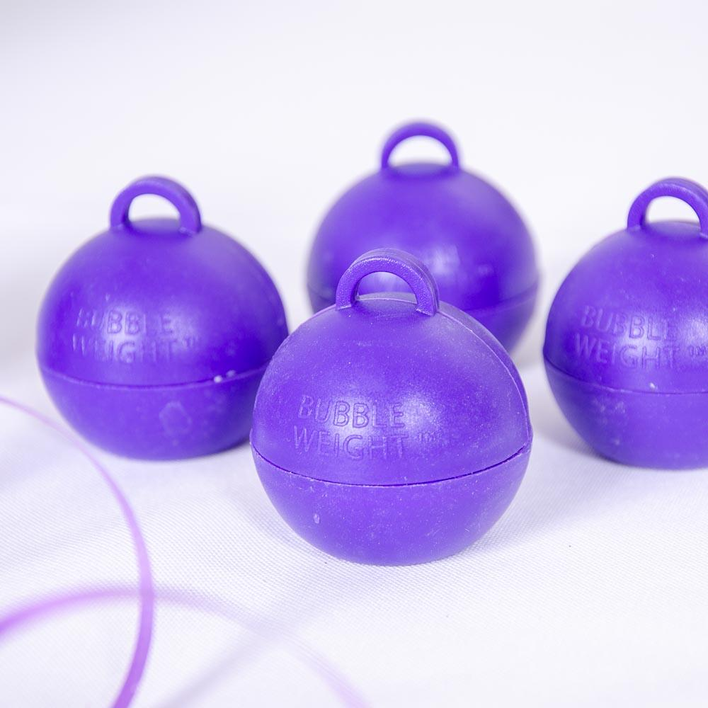 Bubble Balloon Weight Purple (x4)