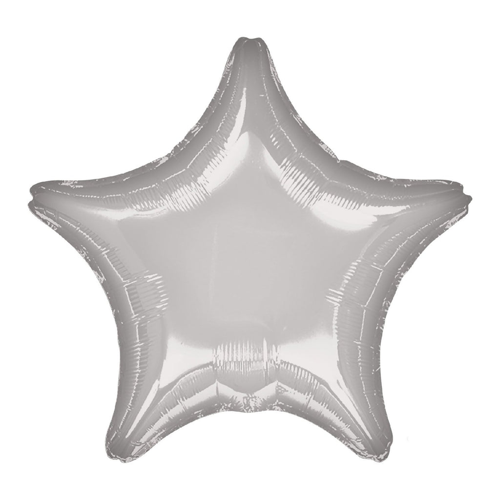 Star Foil Balloon - Metallic Silver