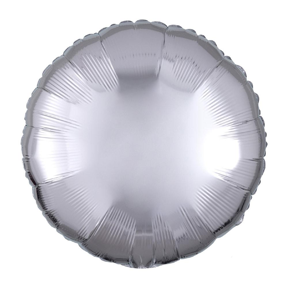 Circle Foil Balloon - Metallic Silver