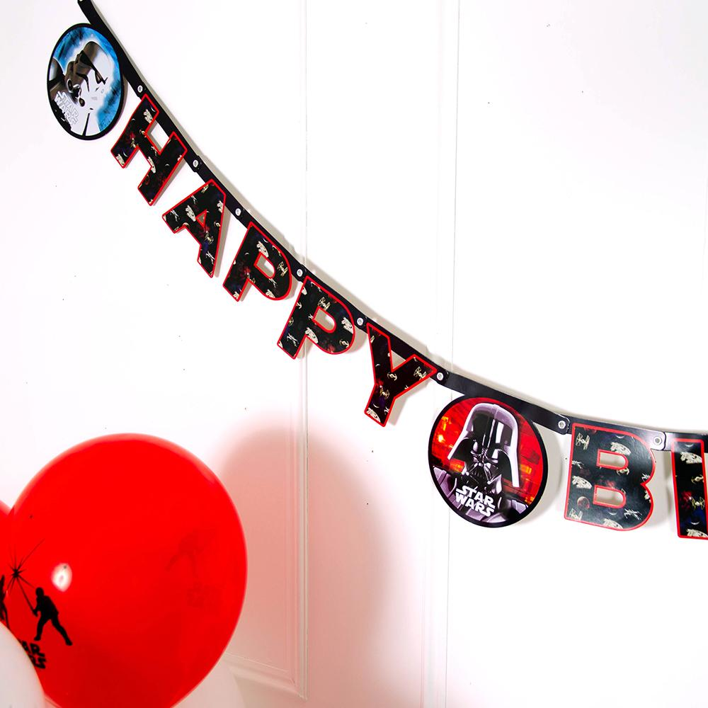 Star Wars Party Happy Birthday Letter Banner