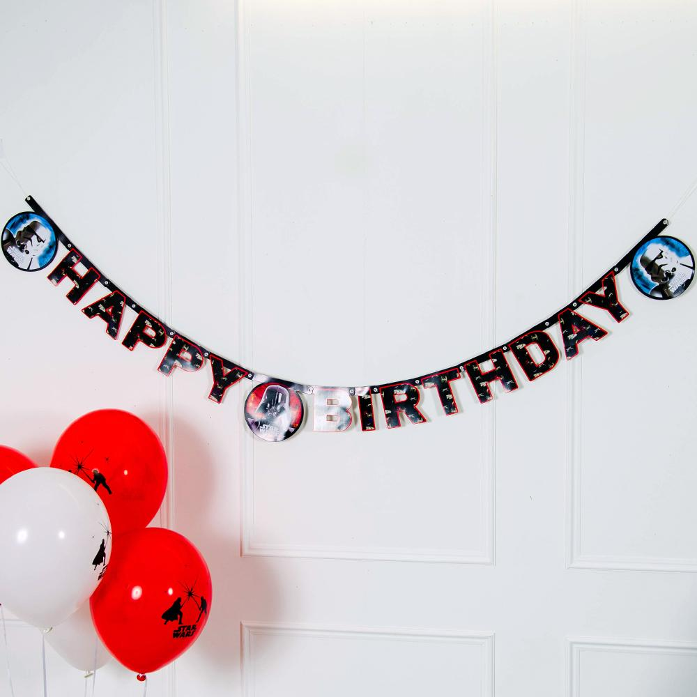 Click to view product details and reviews for Star Wars Party Happy Birthday Letter Banner.