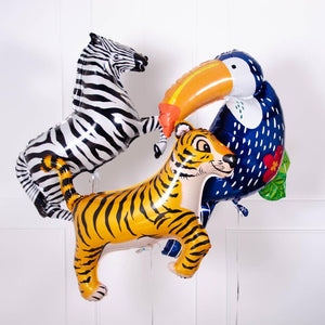 Foil Supershape Jungle Animal Party Balloons (x3)