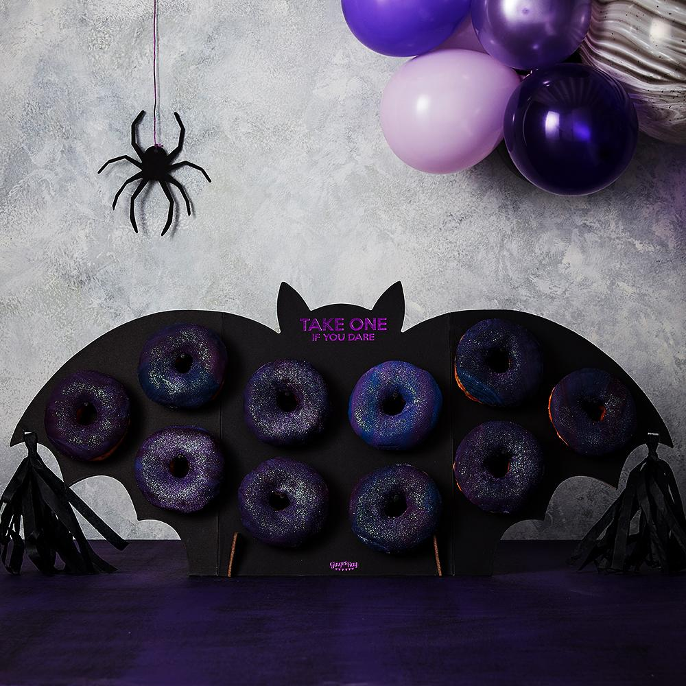 Halloween Party Bat Doughnut Wall