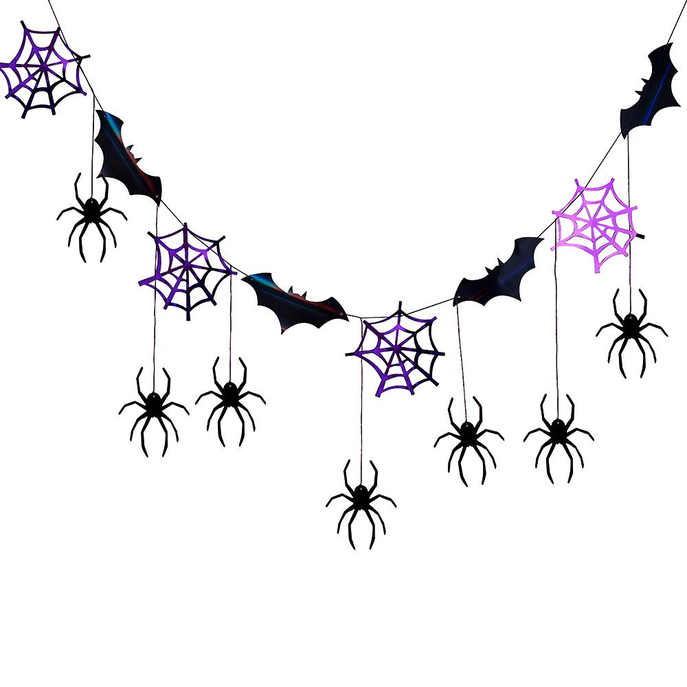 Halloween Spider Web & Bat Bunting