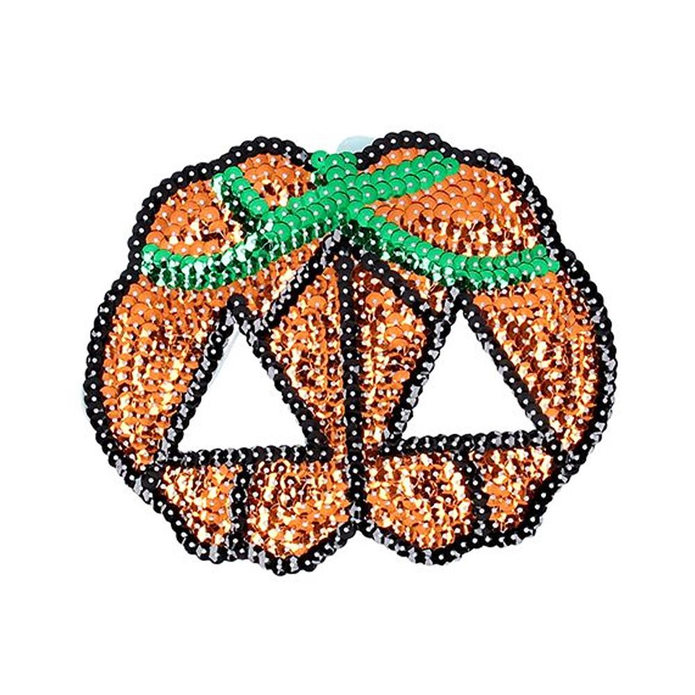Click to view product details and reviews for Halloween Pumpkin Sequin Mask.