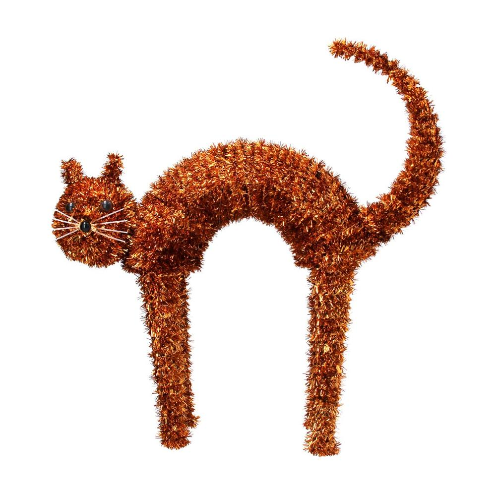Scaredy Cat Tinsel Decoration