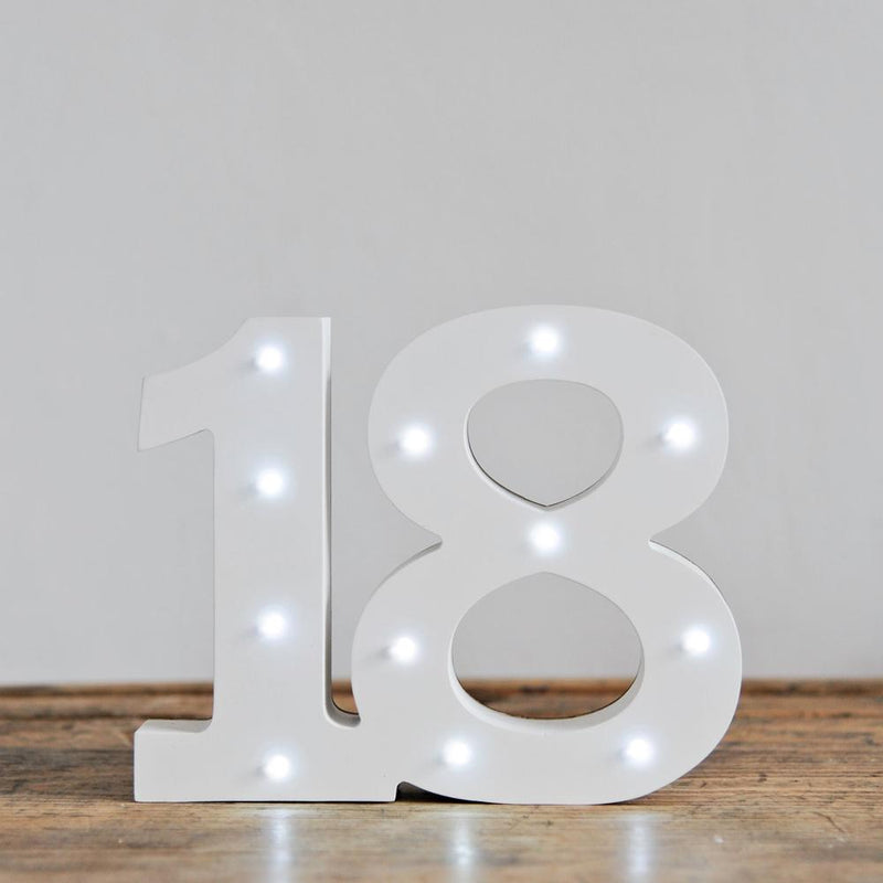 18th Birthday LED Lights White