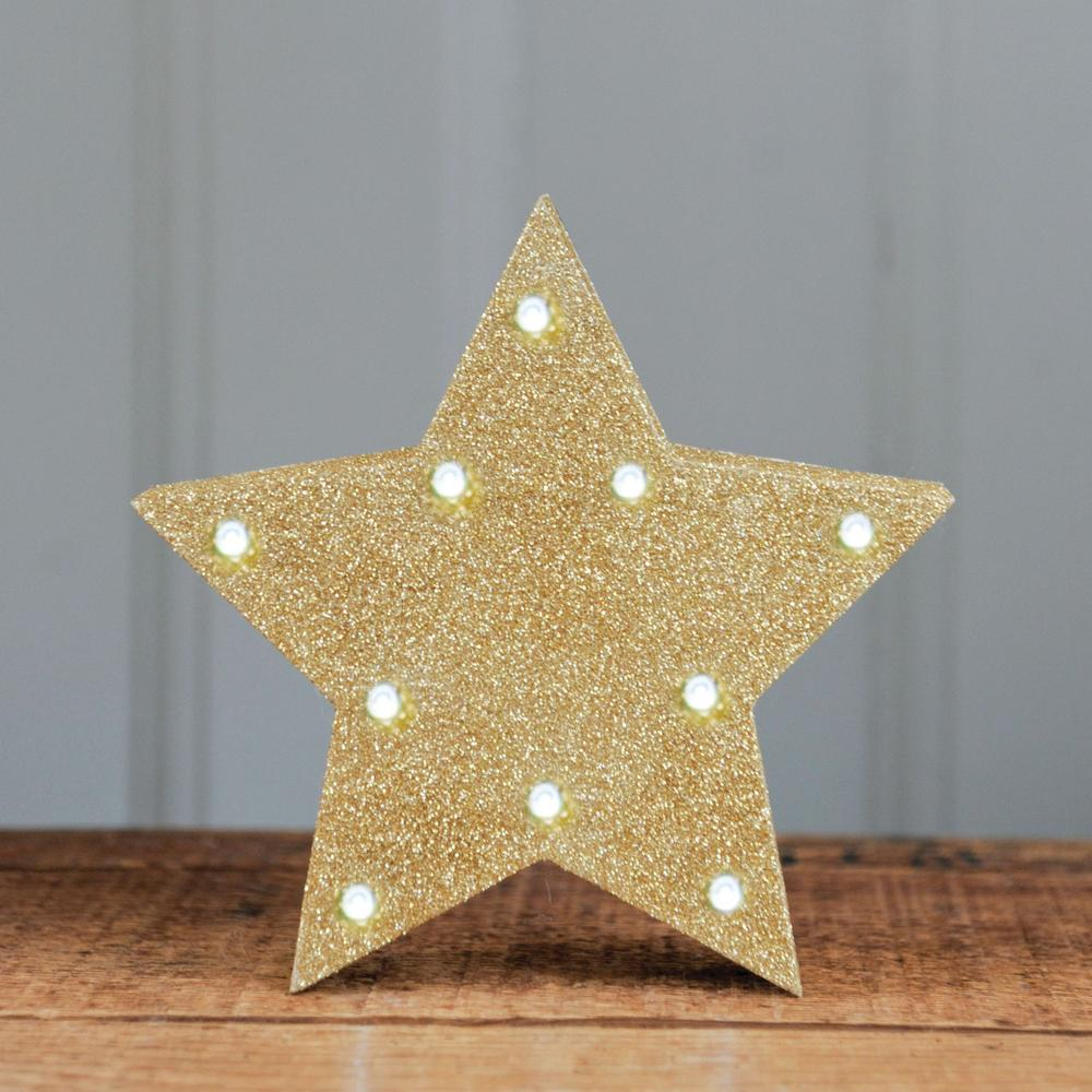 Click to view product details and reviews for Glitter Star Led Light Gold.
