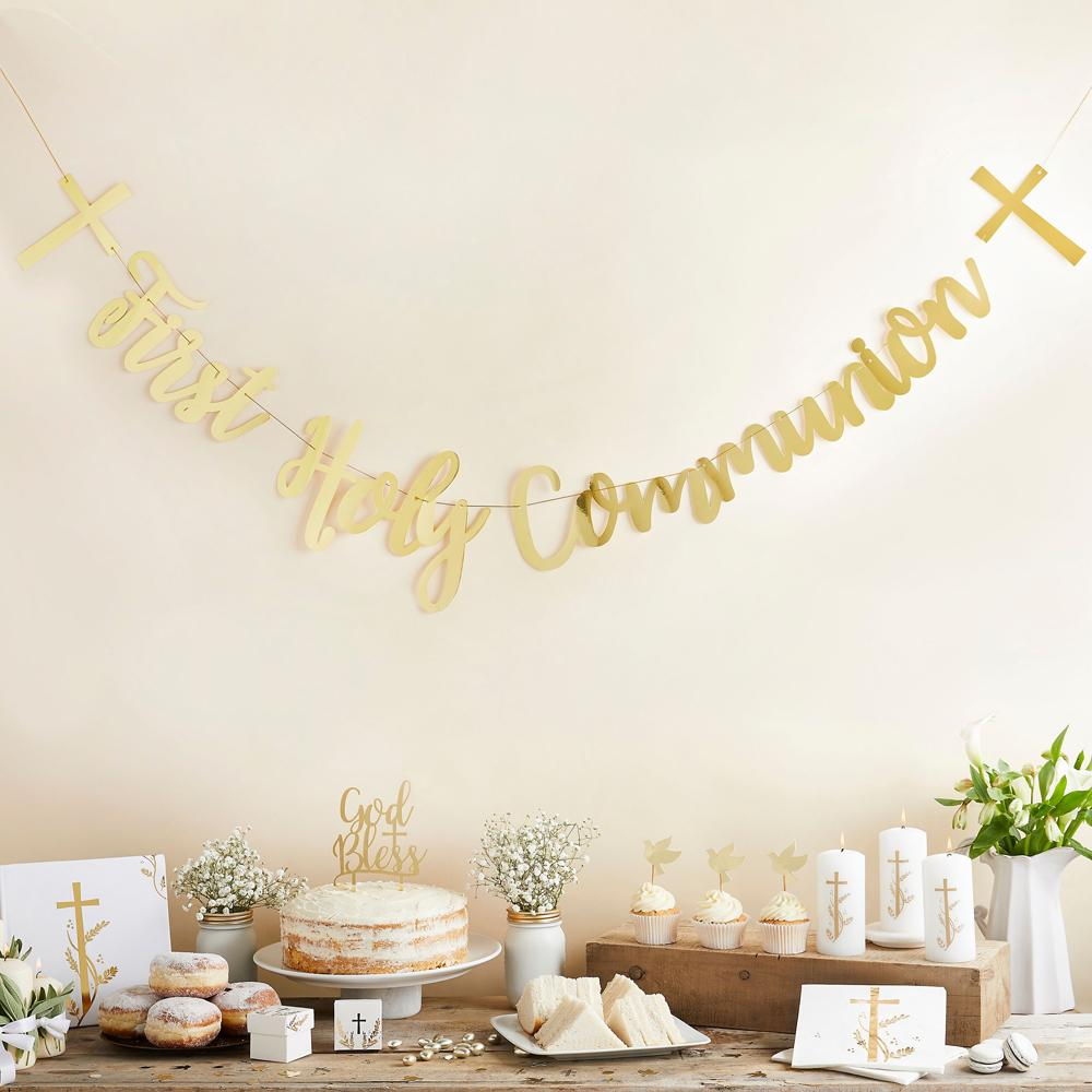 Click to view product details and reviews for First Holy Communion Banner.