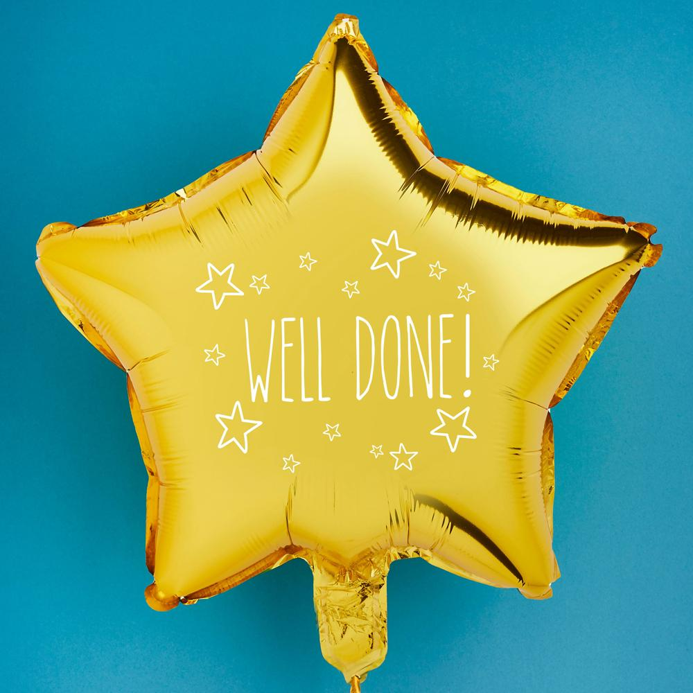 Well Done Gold Star Foil Balloon