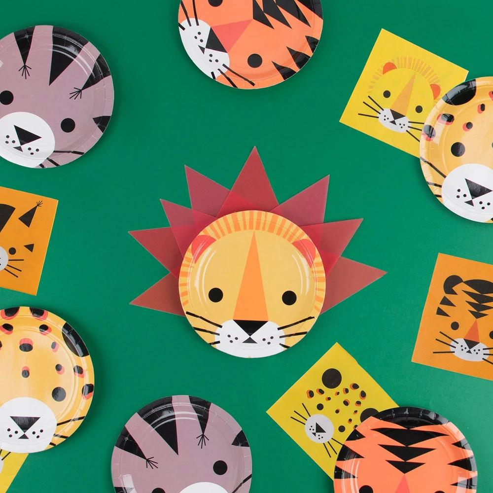 Mini Jungle Cats Paper Plates (x8)
