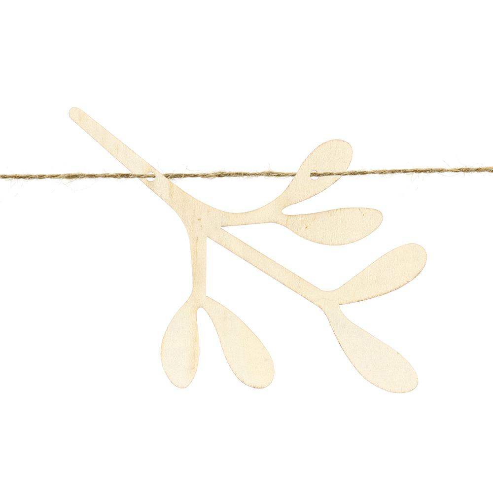 Wooden Mistletoe Christmas Garland