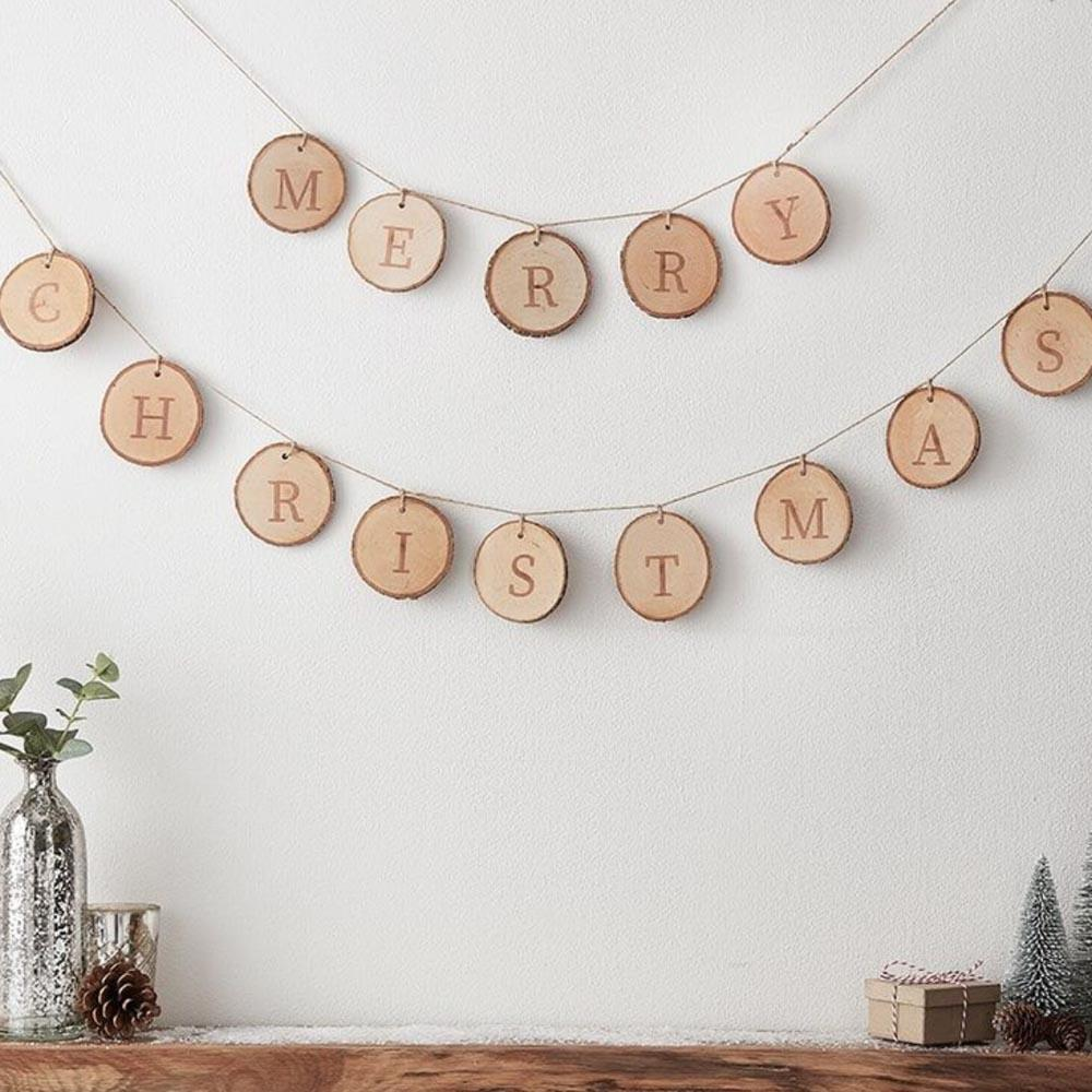 Click to view product details and reviews for Merry Christmas Wooden Rustic Bunting.