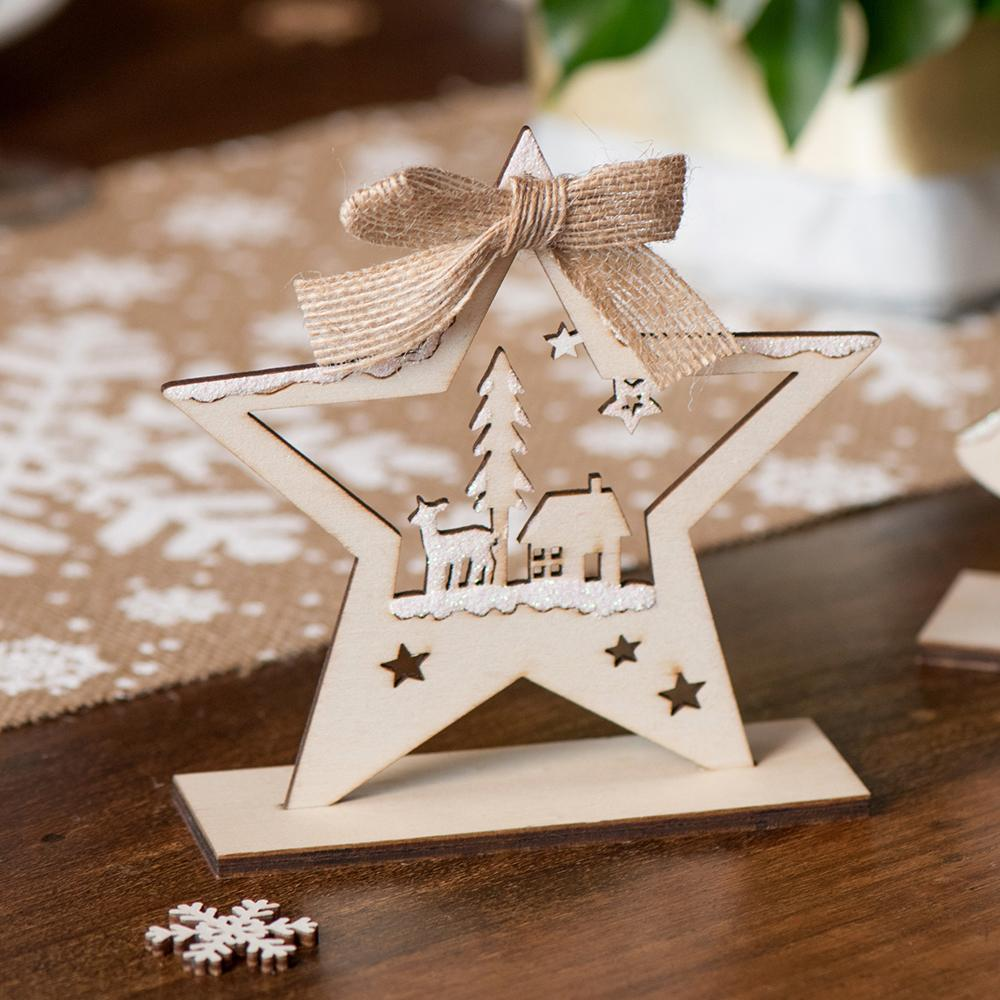 Wooden Rustic Star Table Decoration