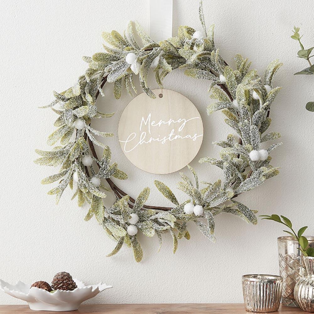 Mistletoe Merry Christmas Door Wreath