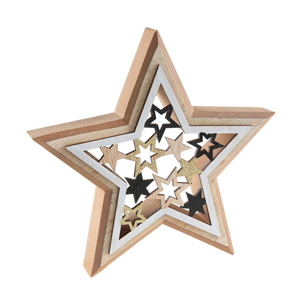 Wooden Star Decoration
