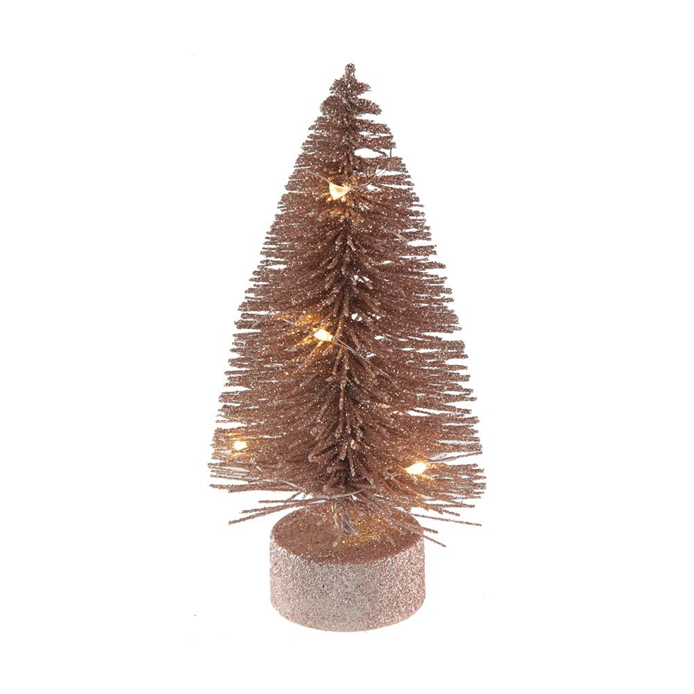 Rose Gold LED Light Up Fir Tree