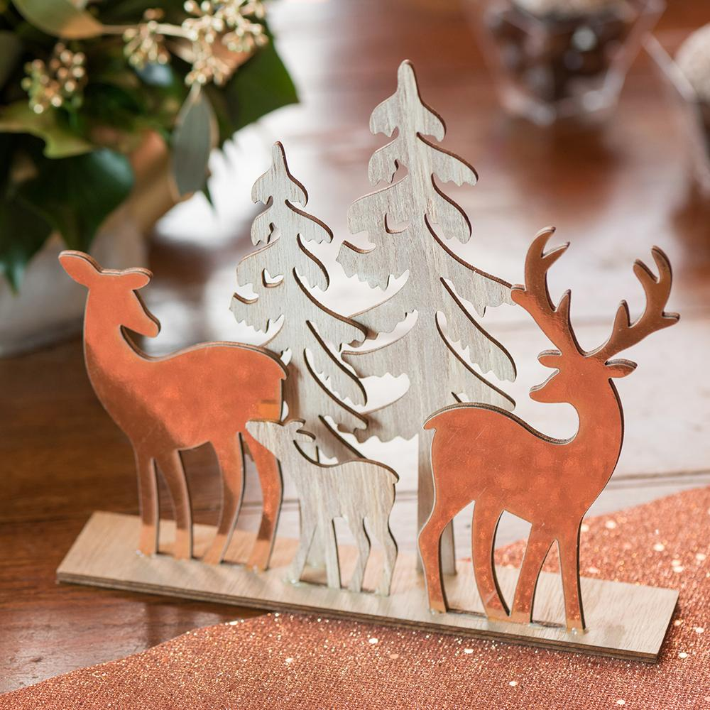 Deer Christmas Decoration Rose Gold