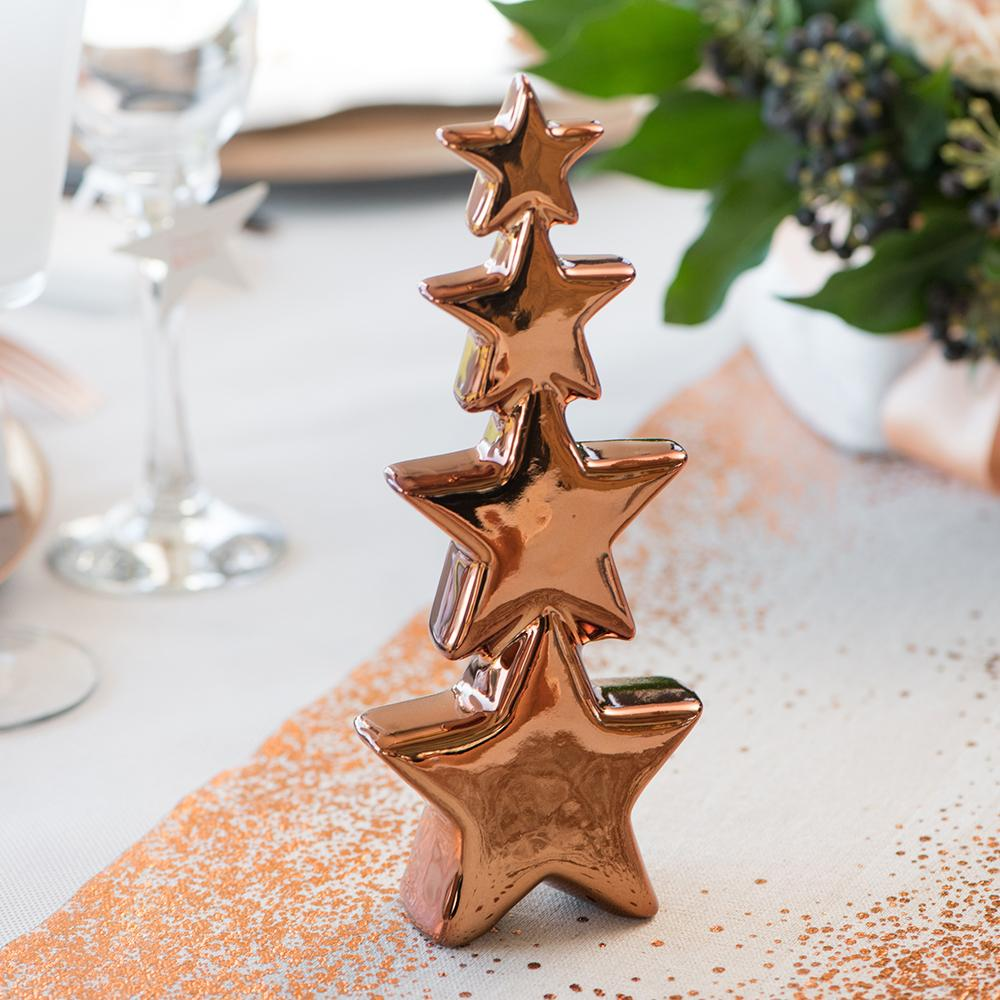 Rose Gold Star Tree Table Decoration
