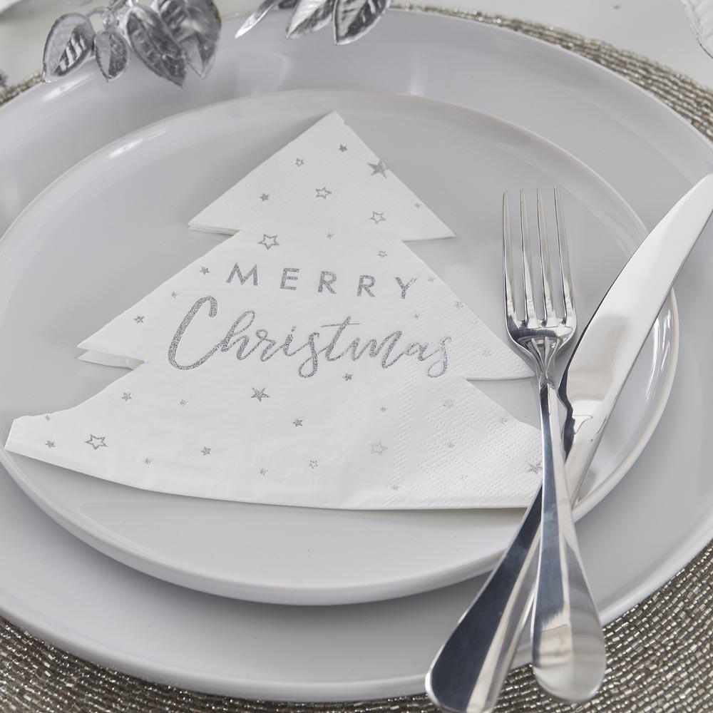 Christmas Star Party Napkins (x16)