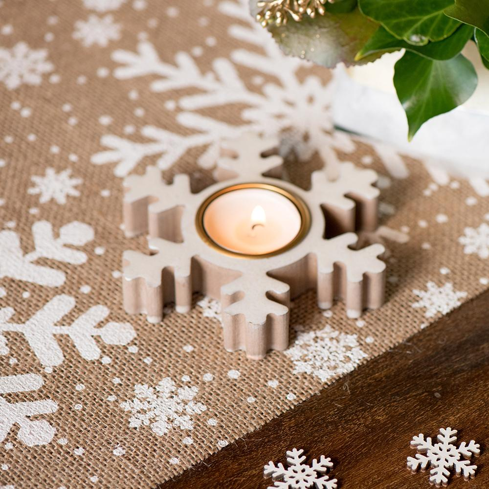 Glitter Snowflake Tealight Holder