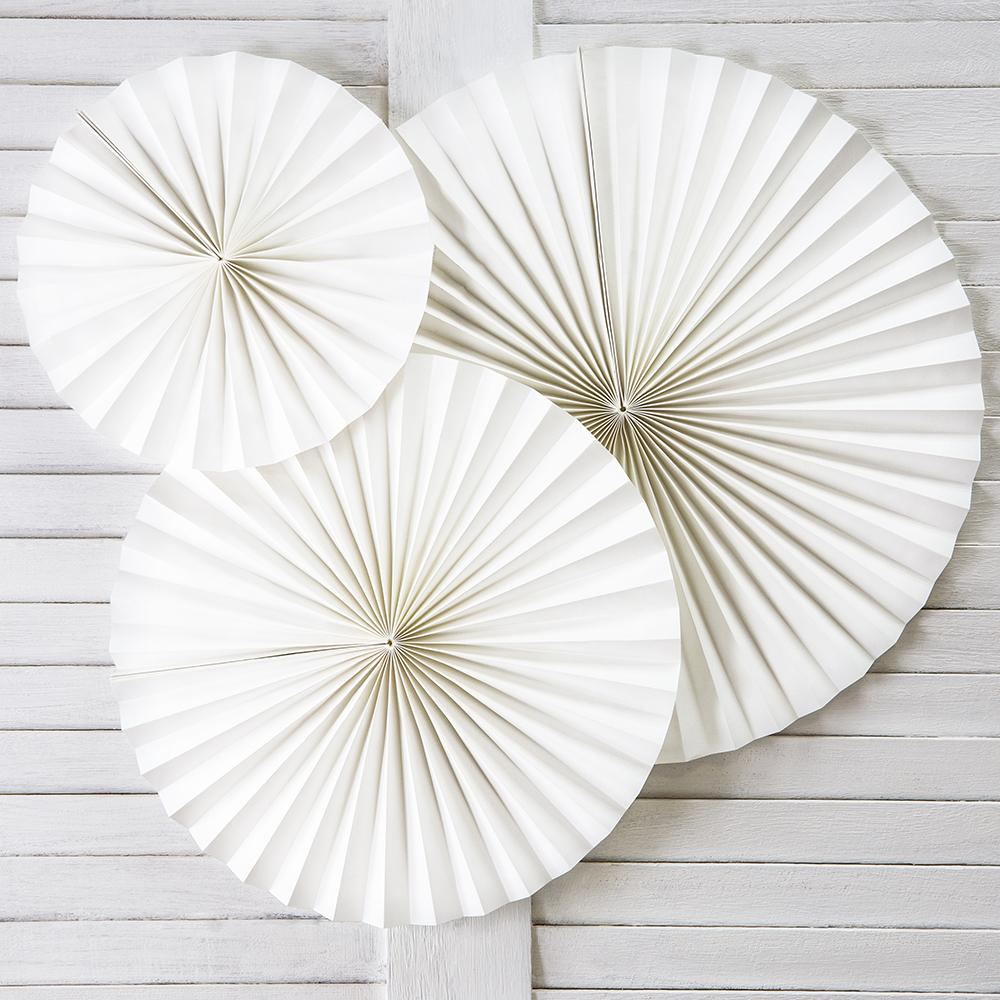 Decorative Rosettes White (x3)