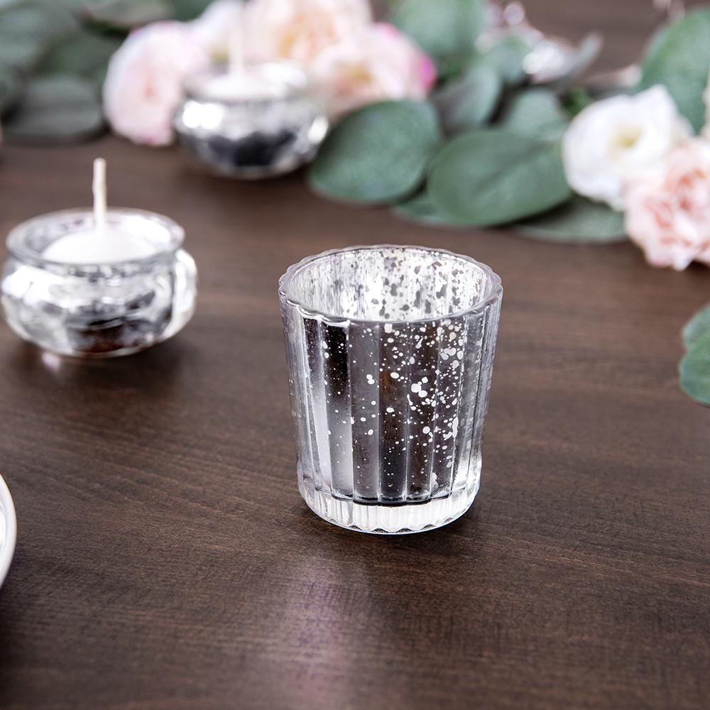 6cm Silver Tealight Holders (x4)