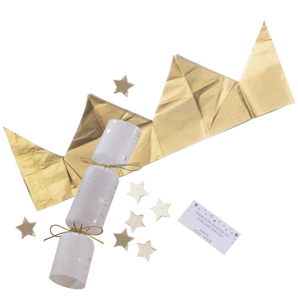 Gold Glitter Confetti Filled Christmas Crackers