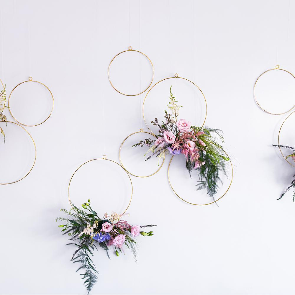 Metal Hoop Hanging Decorations (x2)