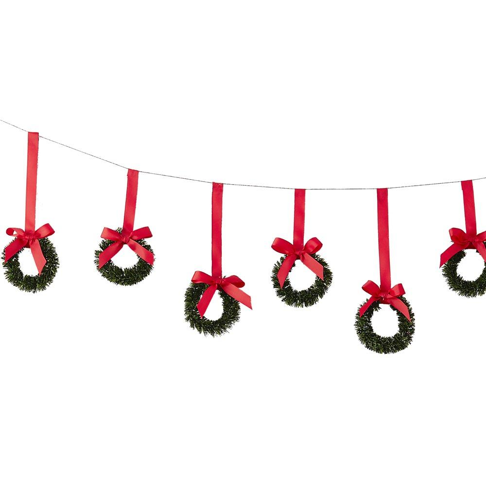 Hanging Christmas Wreath Bunting (2m)