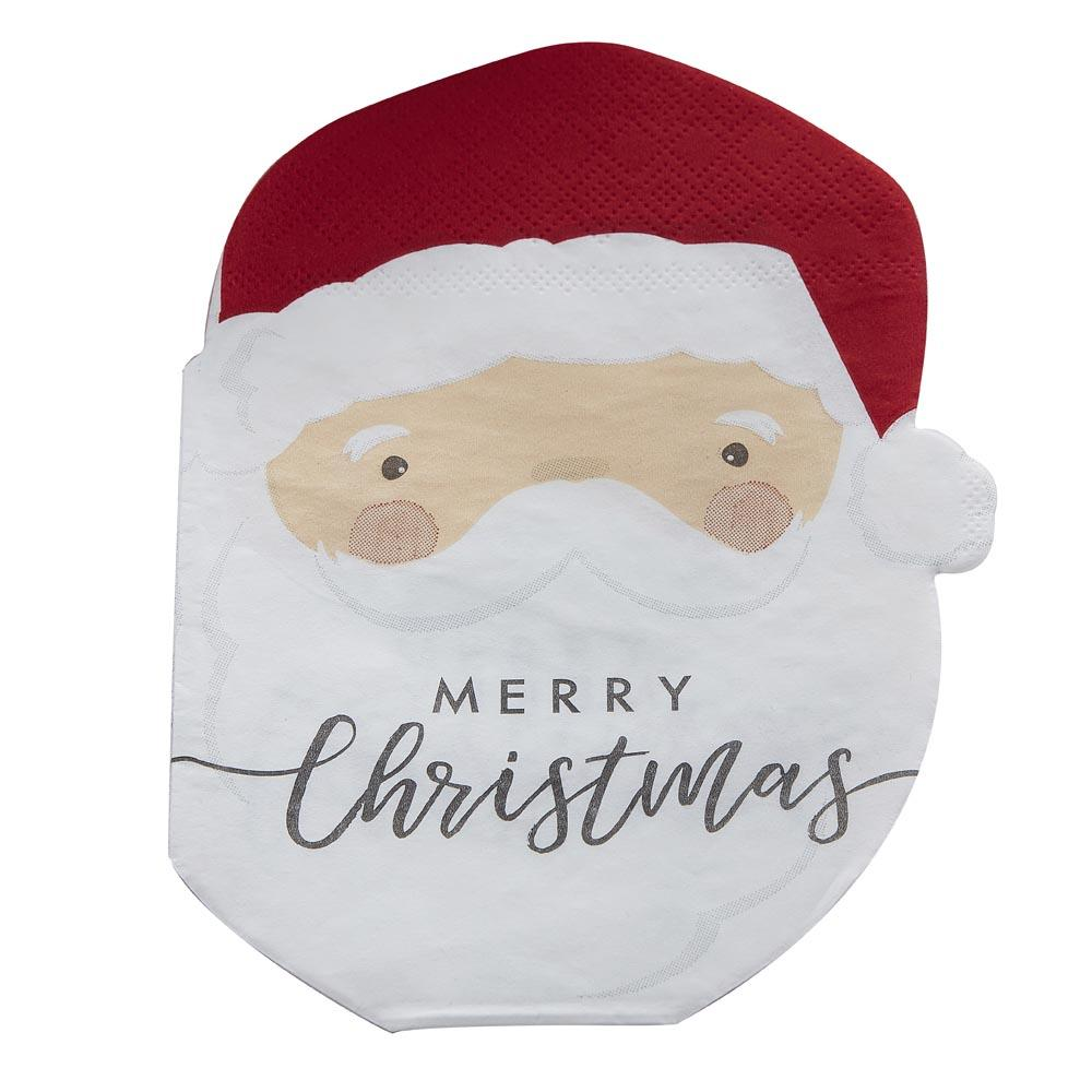 Silly Santa Paper Napkins (x16)