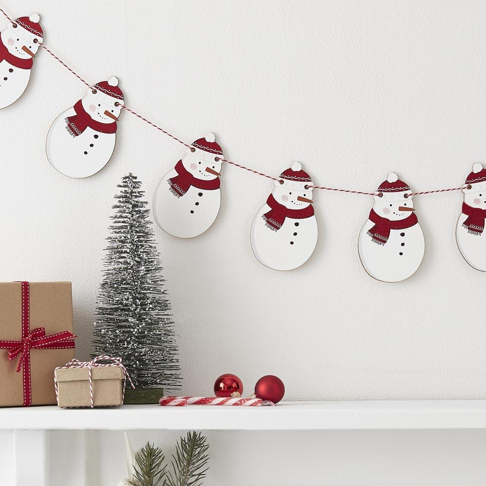 Wooden Snowman Bunting (2m)